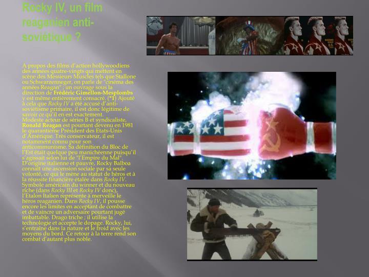 Rocky IV, un film reaganien
