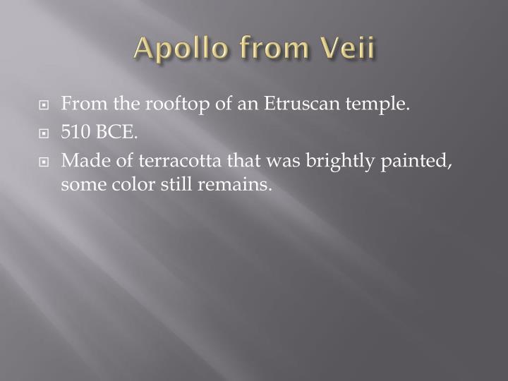 Apollo from Veii