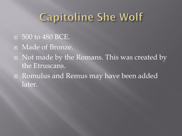 Capitoline She Wolf