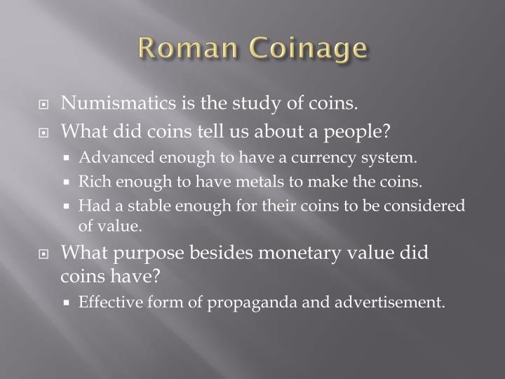 Roman Coinage