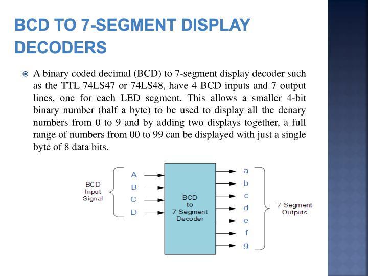 BCD to 7-Segment Display Decoders
