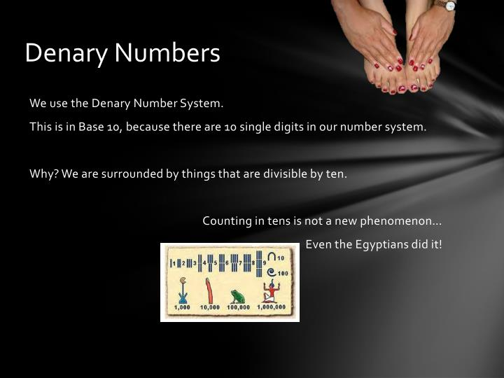 Denary Numbers
