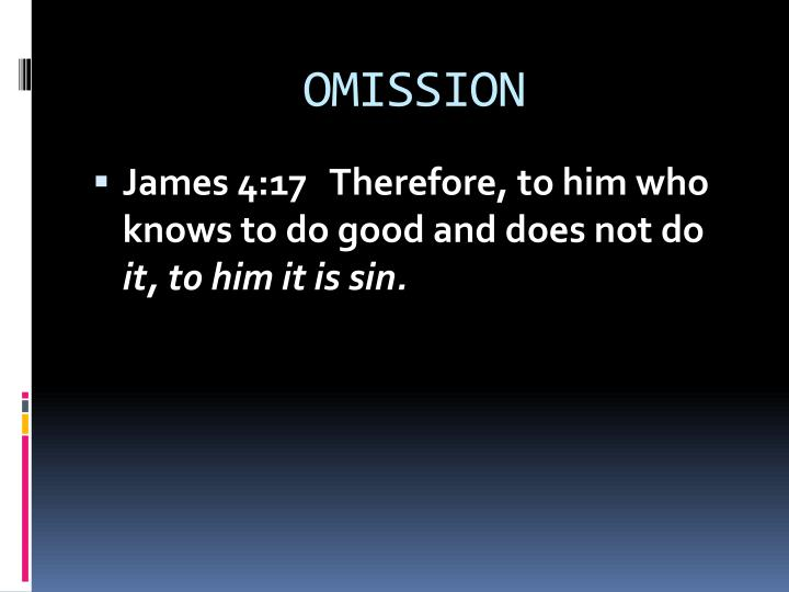 Omission