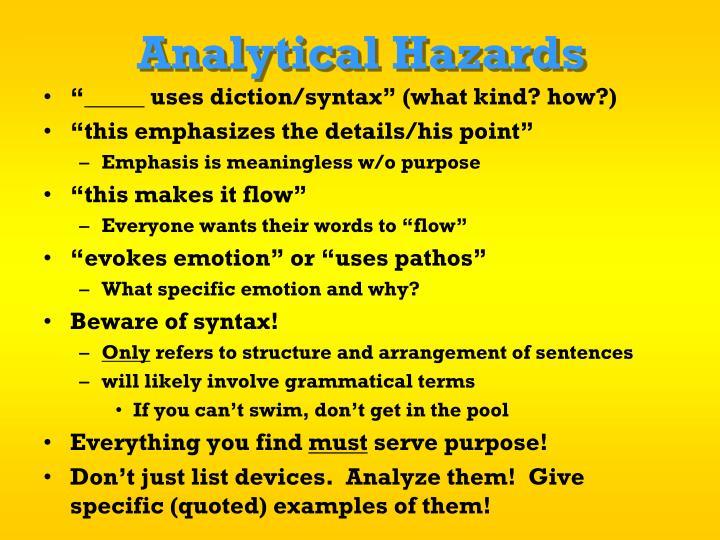Analytical Hazards