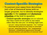context specific strategies