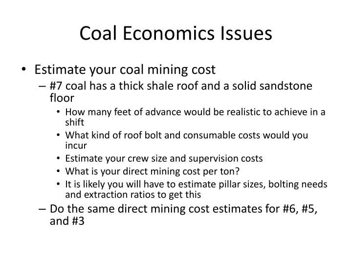 Coal Economics Issues