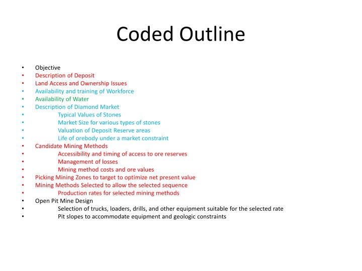 Coded Outline