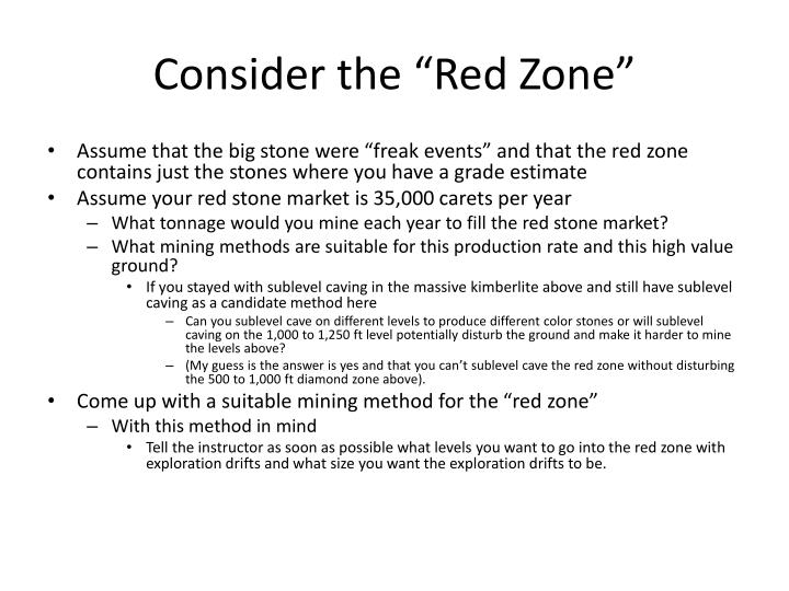 "Consider the ""Red Zone"""