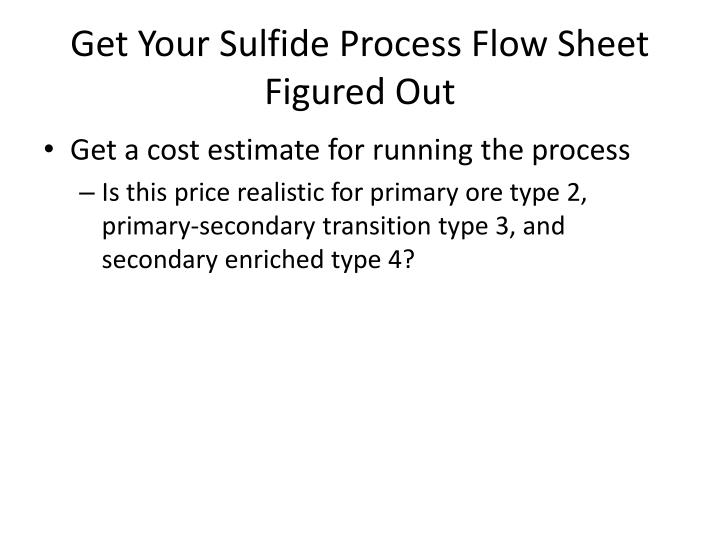 Get Your Sulfide Process Flow Sheet Figured Out