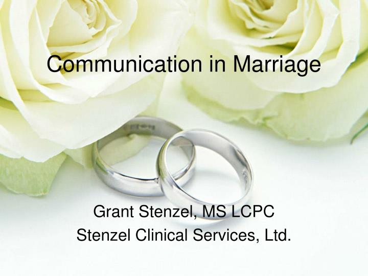 communication in marriages Read this essay on communication in marriage communication in marriages having good communication in a marriage is the key to a happy marriage.