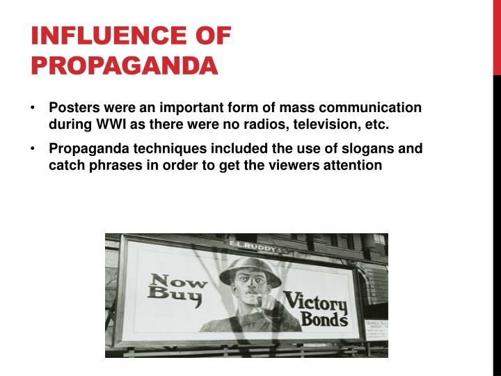 Influence of Propaganda