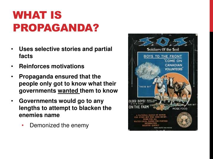 What is propaganda1