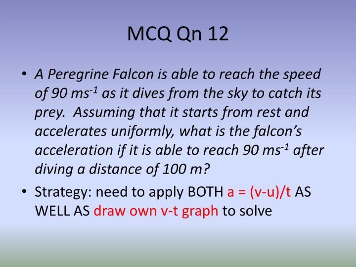 MCQ Qn 12