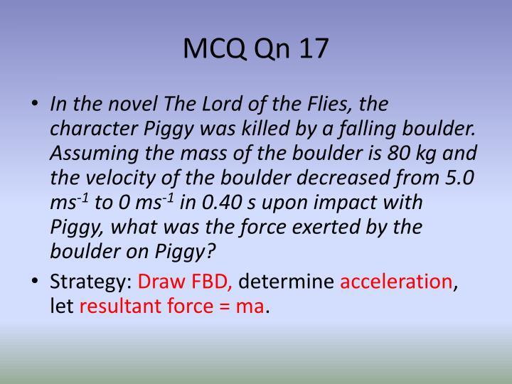 MCQ Qn 17