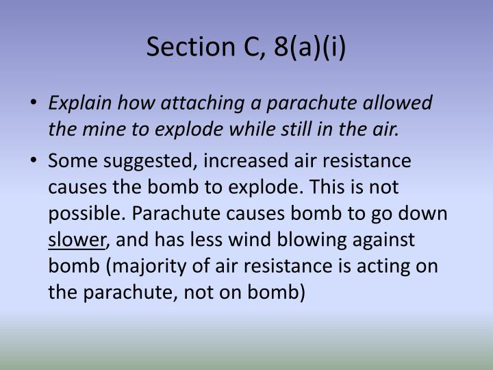 Section C, 8(a)(