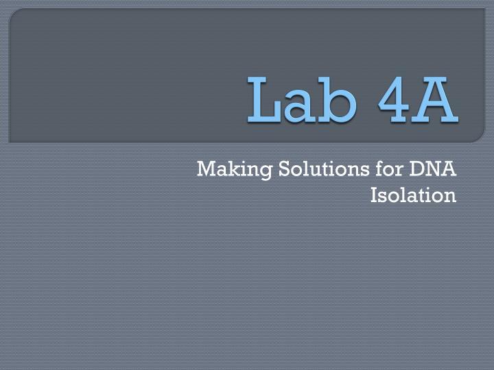Lab 4A