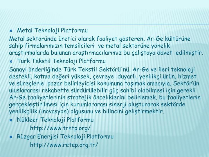 Metal Teknoloji Platformu