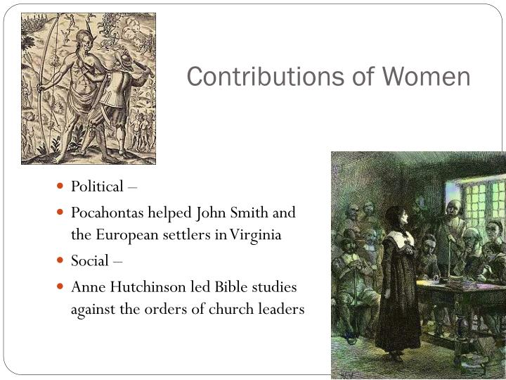 Contributions of Women