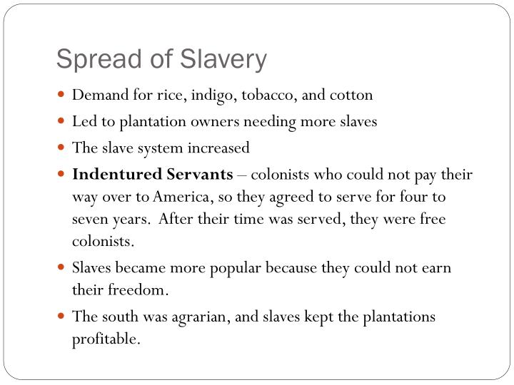 Spread of Slavery