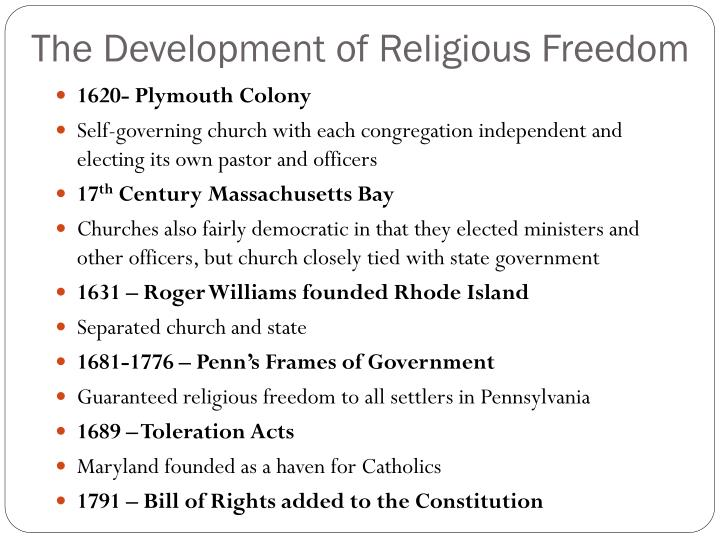 The Development of Religious Freedom