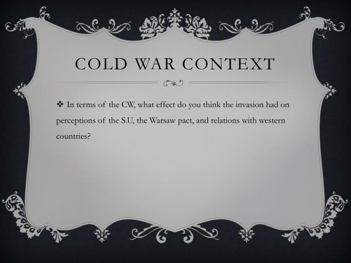Cold War Context