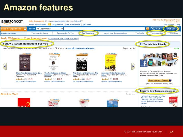 Amazon features