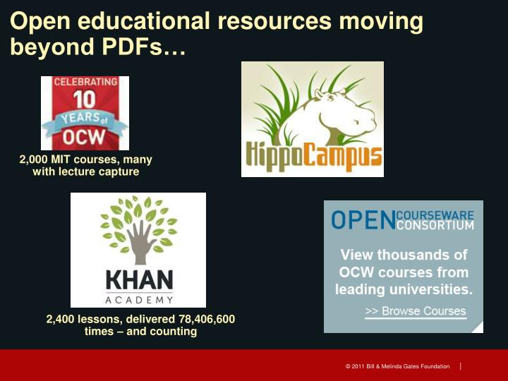 Open educational resources moving beyond PDFs…