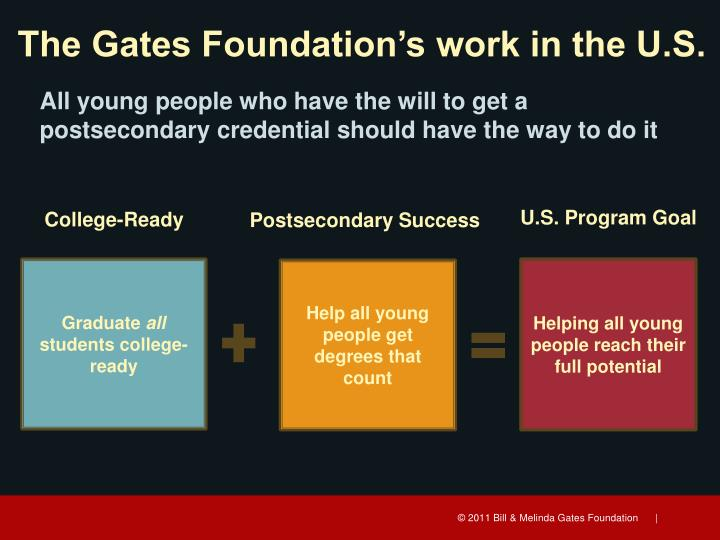 The Gates Foundation's work in the U.S.