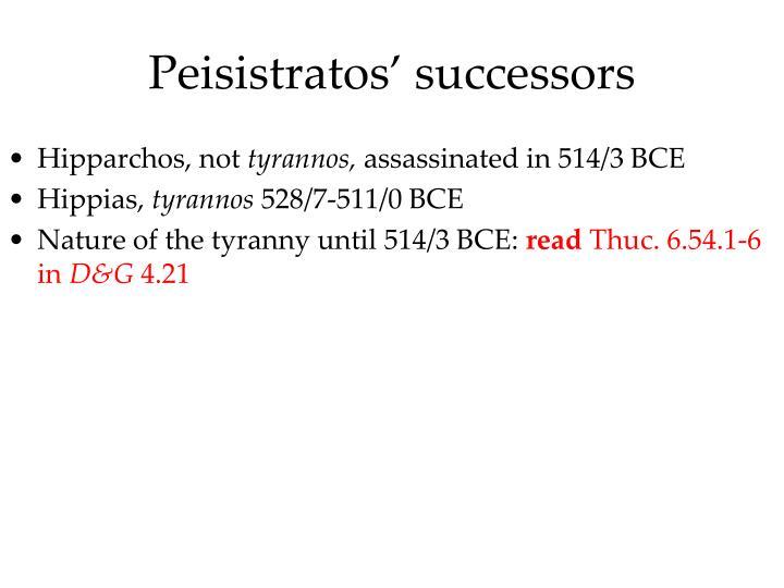 Peisistratos' successors