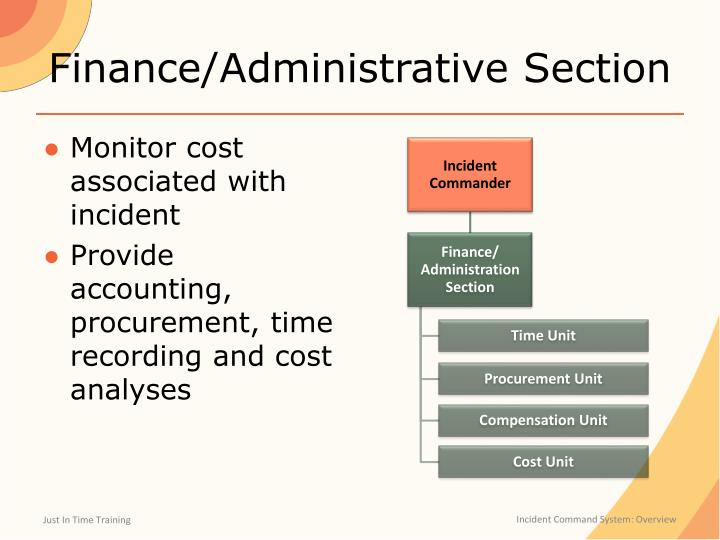 Finance/Administrative Section