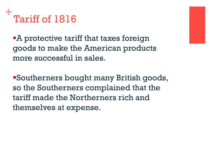 Tariff of 1816