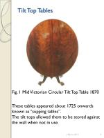 tilt top tables