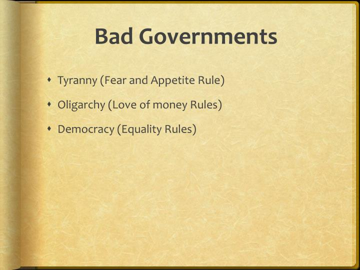 Bad Governments