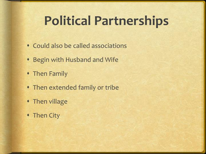 Political partnerships