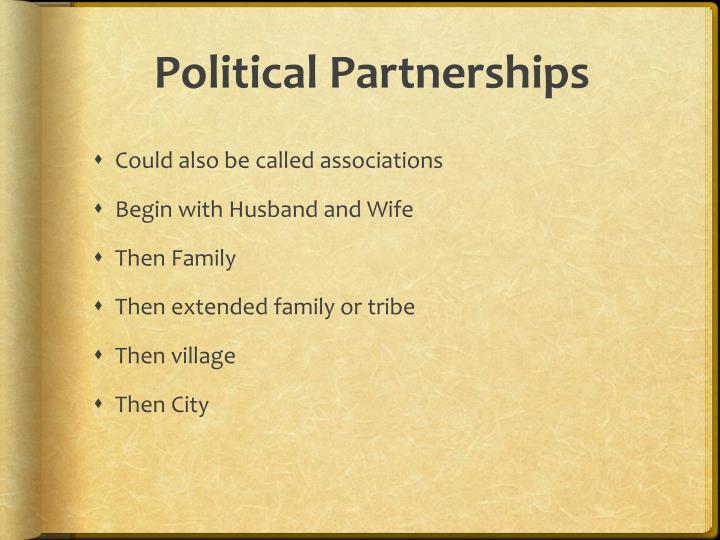 Political Partnerships