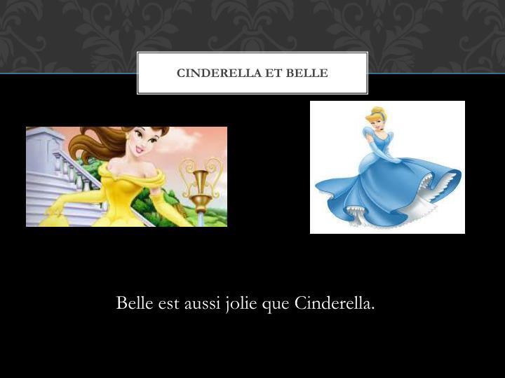 Cinderella et Belle