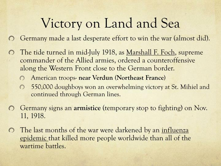 Victory on Land and Sea