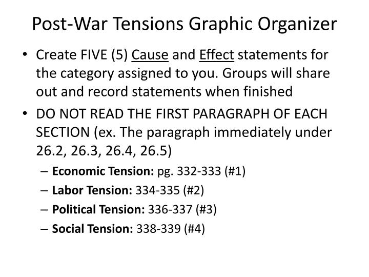 Post-War Tensions Graphic Organizer