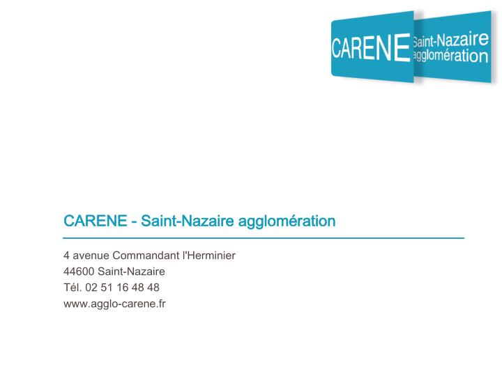 CARENE - Saint-Nazaire agglomération