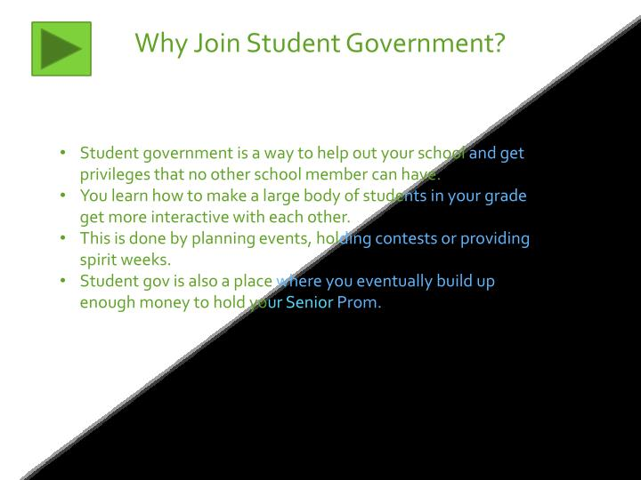 Why Join Student Government?