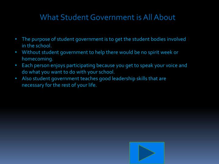 What Student Government is All About