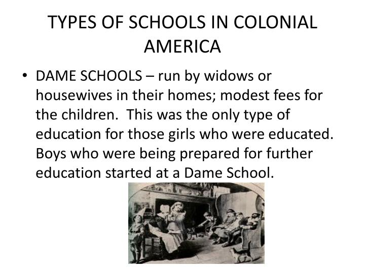 purposes of education in colonial america The degeneration in practice of the early humanists' educational goals and   the effect of these new developments on the curriculum in american schools was .