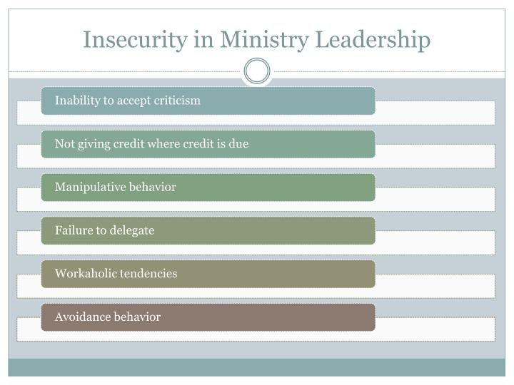 Insecurity in Ministry Leadership