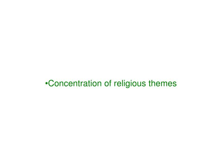 Concentration of religious themes