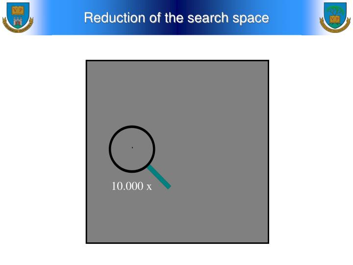 Reduction of the search space