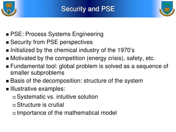 Security and PSE