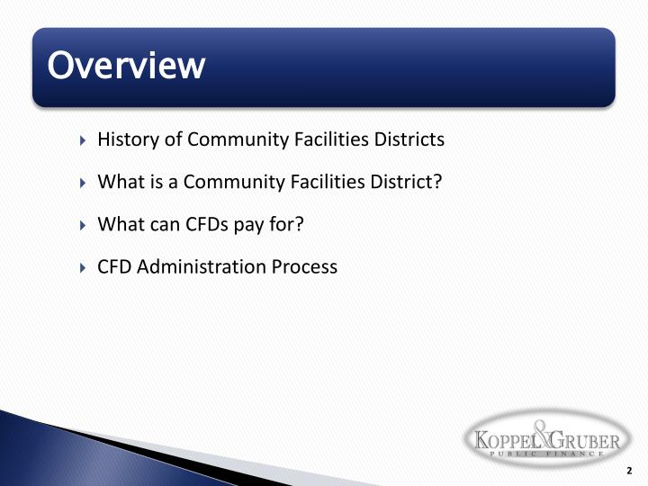 History of Community Facilities Districts