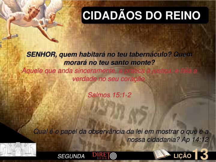 CIDADOS DO REINO