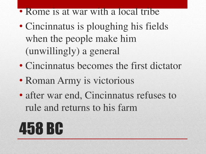 Rome is at war with a local tribe
