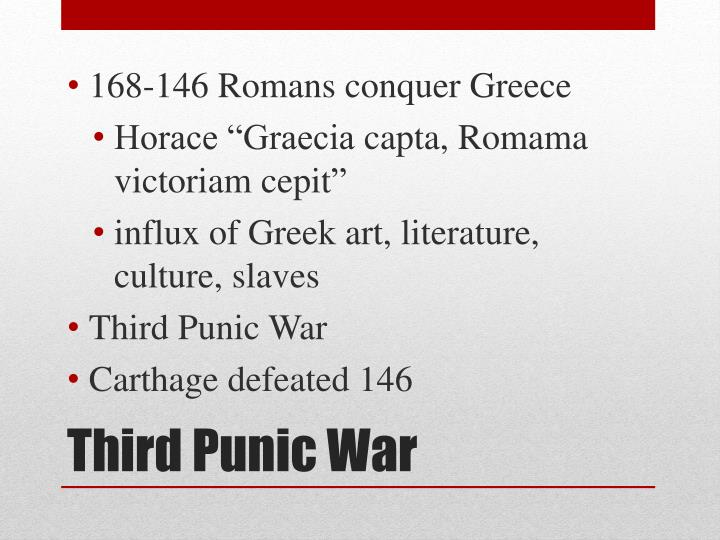 168-146 Romans conquer Greece